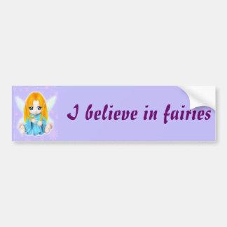 Chibi Faery Car Bumper Sticker