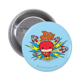 Chibi Flash Outrunning Rockets 2 Inch Round Button