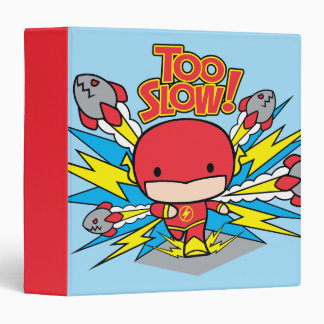 Chibi Flash Outrunning Rockets 3 Ring Binder