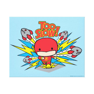 Chibi Flash Outrunning Rockets Canvas Print