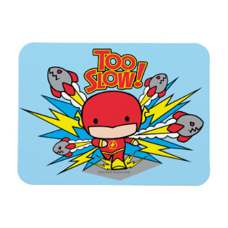 Chibi Flash Outrunning Rockets Magnet