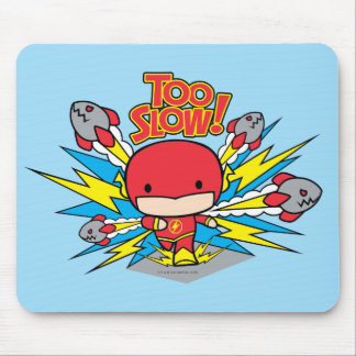 Chibi Flash Outrunning Rockets Mouse Pad