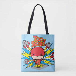 Chibi Flash Outrunning Rockets Tote Bag