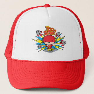 Chibi Flash Outrunning Rockets Trucker Hat