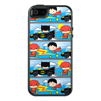 Chibi Flash, Superman, and Batman Racing Pattern OtterBox iPhone 5/5s/SE Case