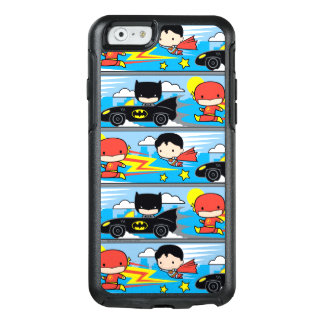 Chibi Flash, Superman, and Batman Racing Pattern OtterBox iPhone 6/6s Case