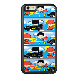 Chibi Flash, Superman, and Batman Racing Pattern OtterBox iPhone 6/6s Plus Case