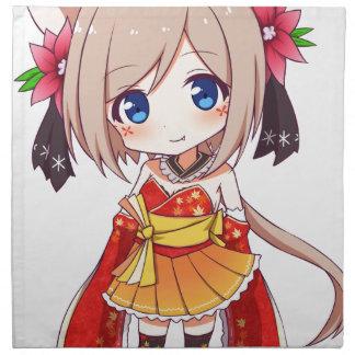 Chibi Fox Girl Napkin