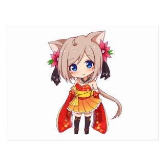 Chibi Fox Girl Postcard