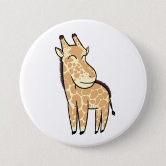 Chibi Giraffe 3 Inch Round Button