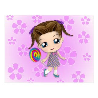 Chibi Girl Postcard