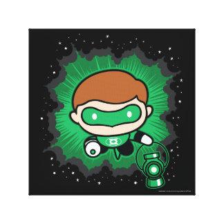 Chibi Green Lantern Flying Through Space Canvas Print