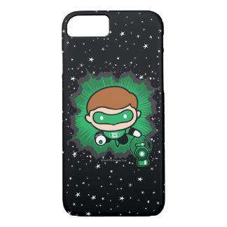 Chibi Green Lantern Flying Through Space iPhone 8/7 Case