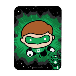 Chibi Green Lantern Flying Through Space Magnet