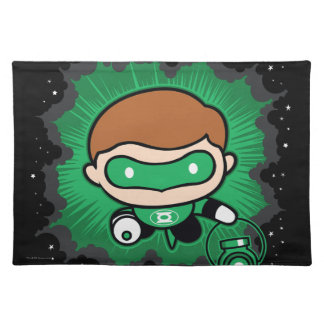 Chibi Green Lantern Flying Through Space Placemat