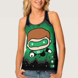 Chibi Green Lantern Flying Through Space Tank Top