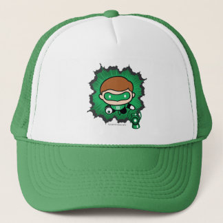 Chibi Green Lantern Flying Through Space Trucker Hat