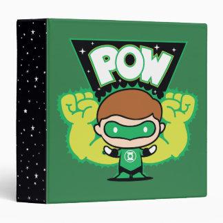 Chibi Green Lantern Forming Giant Fists 3 Ring Binder