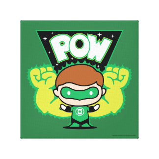Chibi Green Lantern Forming Giant Fists Canvas Print