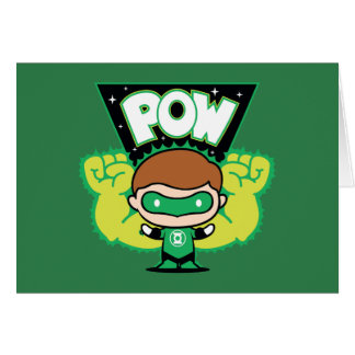 Chibi Green Lantern Forming Giant Fists Card