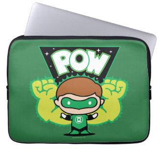 Chibi Green Lantern Forming Giant Fists Laptop Sleeve