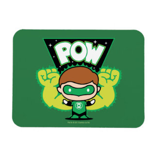 Chibi Green Lantern Forming Giant Fists Magnet