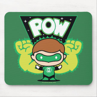 Chibi Green Lantern Forming Giant Fists Mouse Pad