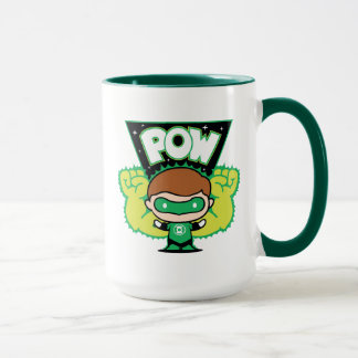 Chibi Green Lantern Forming Giant Fists Mug