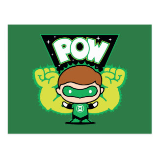 Chibi Green Lantern Forming Giant Fists Postcard