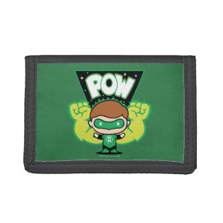 Chibi Green Lantern Forming Giant Fists Tri-fold Wallets