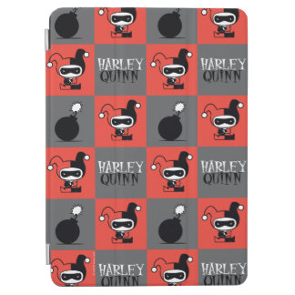 Chibi Harley Quinn Checker Pattern iPad Air Cover