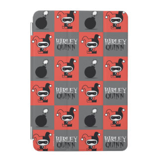 Chibi Harley Quinn Checker Pattern iPad Mini Cover