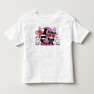 Chibi Harley Quinn & Chibi Catwoman With Cats Toddler T-shirt