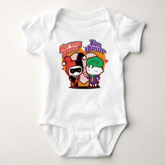 Chibi Harley Quinn & Chibi Joker Hearts Baby Bodysuit