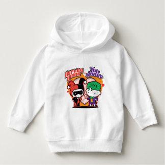 Chibi Harley Quinn & Chibi Joker Hearts Hoodie