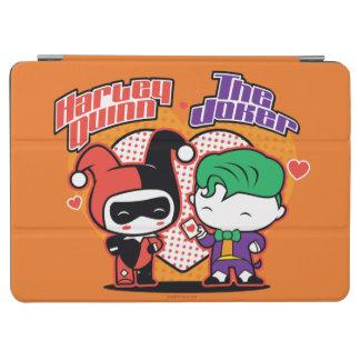 Chibi Harley Quinn & Chibi Joker Hearts iPad Air Cover