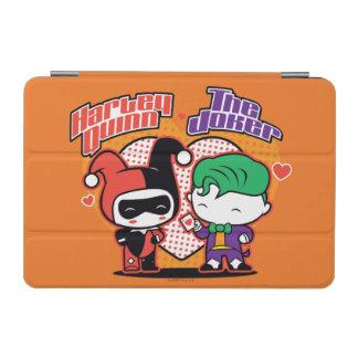 Chibi Harley Quinn & Chibi Joker Hearts iPad Mini Cover