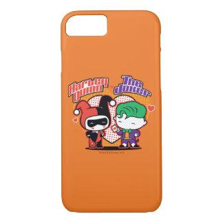 Chibi Harley Quinn & Chibi Joker Hearts iPhone 8/7 Case