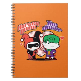 Chibi Harley Quinn & Chibi Joker Hearts Notebook