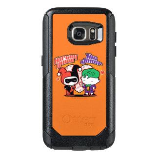 Chibi Harley Quinn & Chibi Joker Hearts OtterBox Samsung Galaxy S7 Case