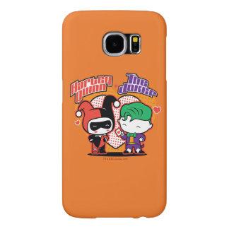 Chibi Harley Quinn & Chibi Joker Hearts Samsung Galaxy S6 Cases