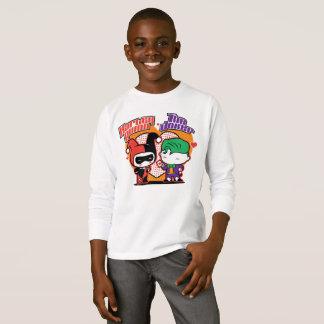 Chibi Harley Quinn & Chibi Joker Hearts T-Shirt