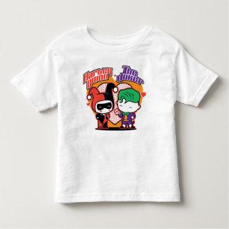 Chibi Harley Quinn & Chibi Joker Hearts Toddler T-shirt