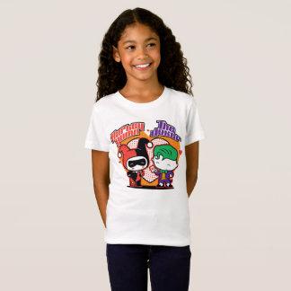 Chibi Harley Quinn et coeurs de joker de Chibi T-Shirt