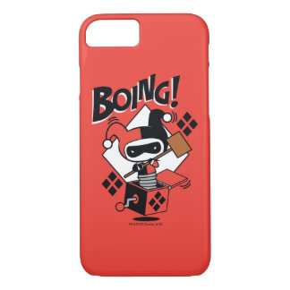 Chibi Harley-Quinn-In-A-Box With Hammer iPhone 8/7 Case