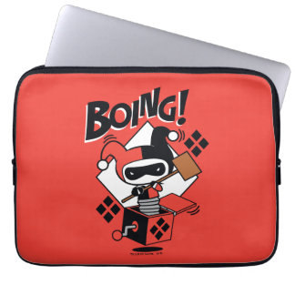 Chibi Harley-Quinn-In-A-Box With Hammer Laptop Sleeve