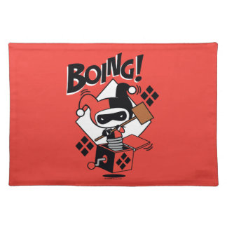 Chibi Harley-Quinn-In-A-Box With Hammer Placemat