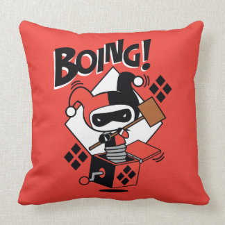 Chibi Harley-Quinn-In-A-Box With Hammer Throw Pillow