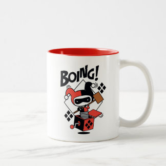 Chibi Harley-Quinn-In-A-Box With Hammer Two-Tone Coffee Mug