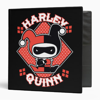 Chibi Harley Quinn Splits 3 Ring Binders